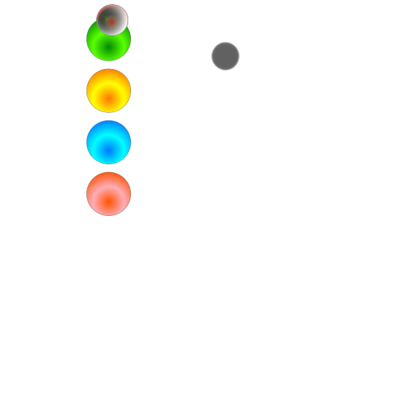 Colored Bullets PNG Clip art
