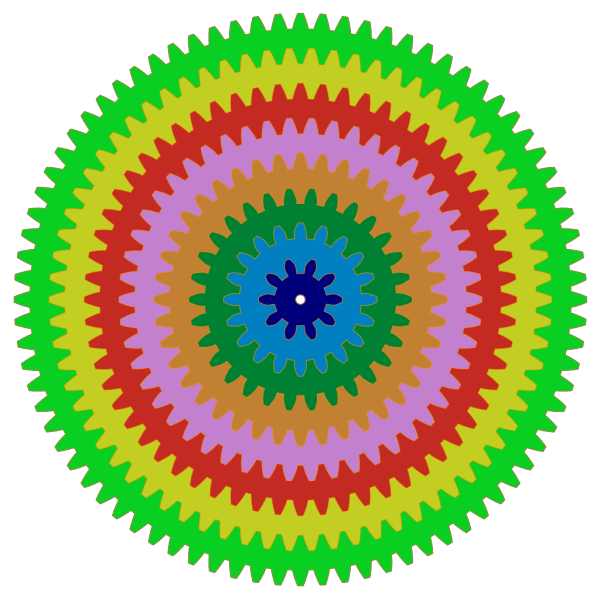 Colorful Gears PNG Clip art