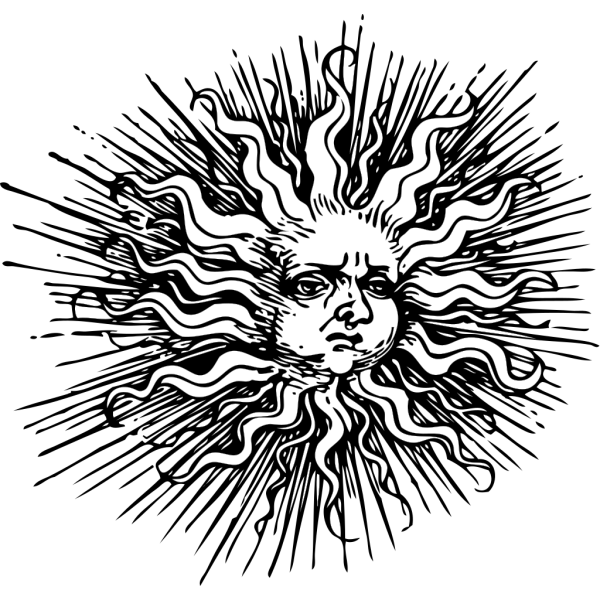 Ornate Sun PNG Clip art