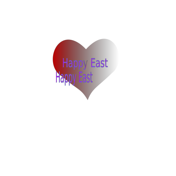Happy Easter Heart PNG Clip art