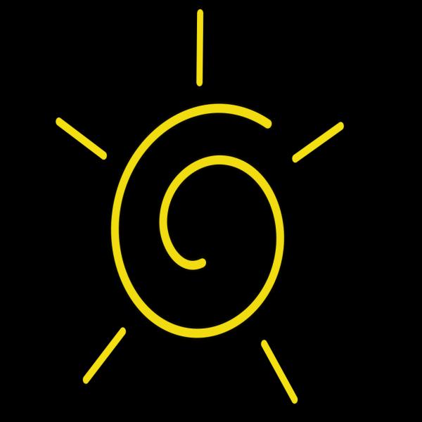 Stylized Sun Art PNG Clip art