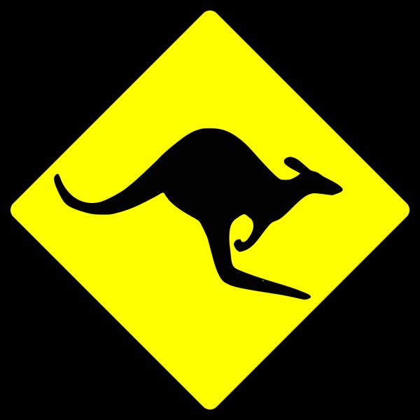 Contour Kangaroo PNG images