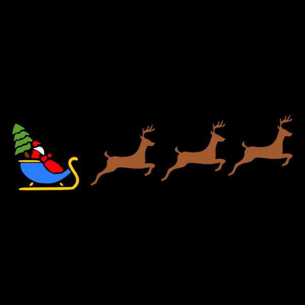 Santa Flying Reindeer Slay PNG Clip art