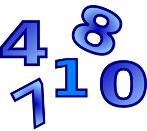 Creation Days Numbers 4 PNG Clip art