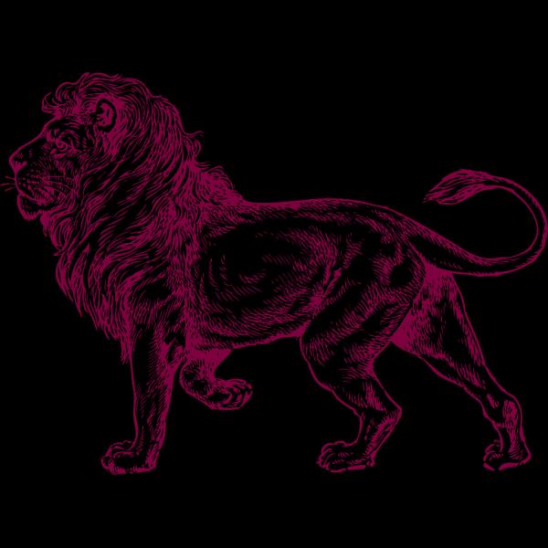 Black Heraldic Lion PNG Clip art
