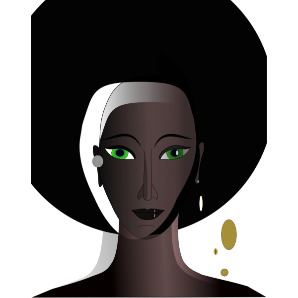 Windblown Woman PNG Clip art