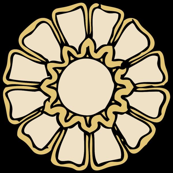 Rosette Ornament PNG Clip art