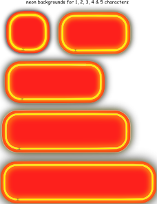 Neon Numerals Backgrounds PNG Clip art