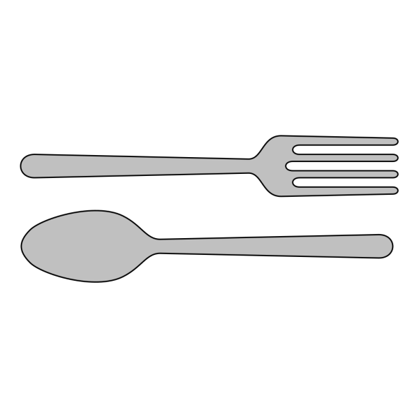 Fork And Spoon Silverware PNG Clip art