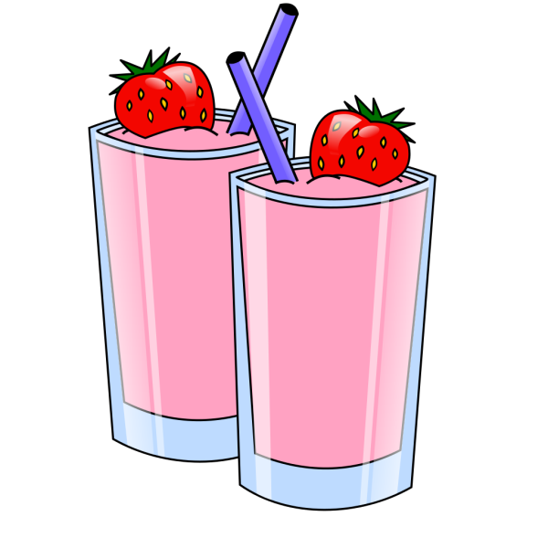 Strawberry Smoothie Drink Beverage Cups PNG Clip art