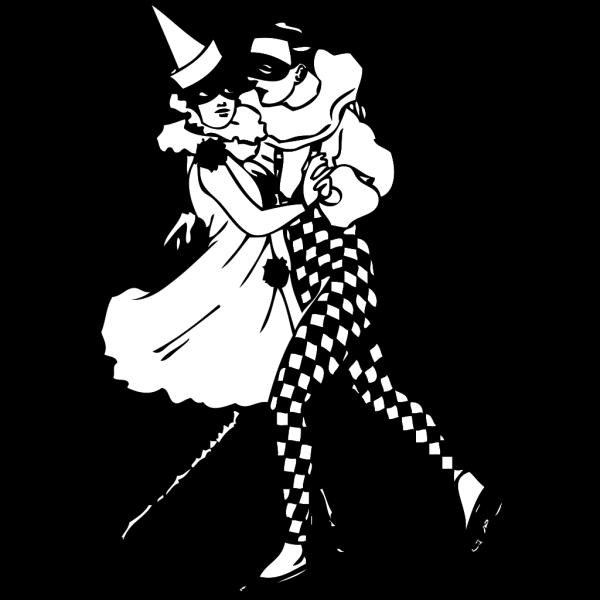 Harlequin Dancers PNG Clip art