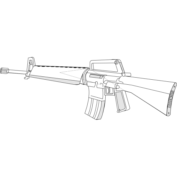 M16 Gun Fire Arms Weapon PNG Clip art