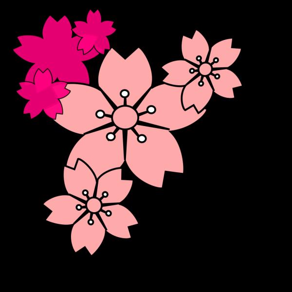 Blossoms Surfacing Water Mosaic PNG Clip art