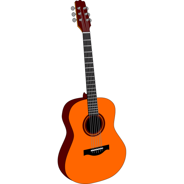 Guitar Colored PNG Clip art