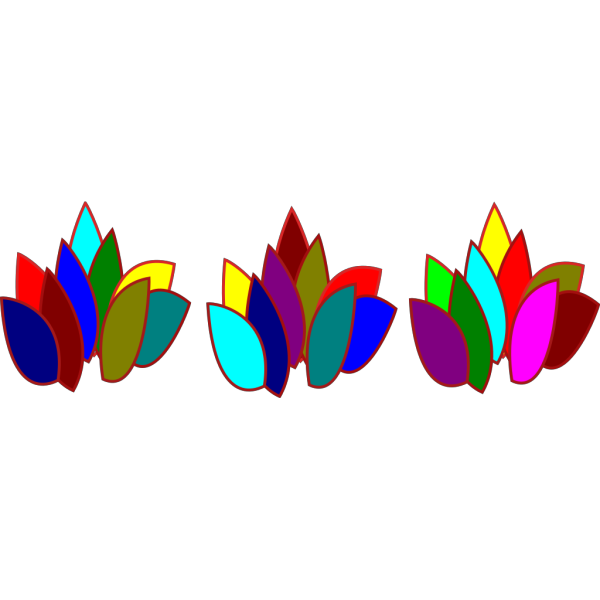 Colored Blocks Fire PNG Clip art