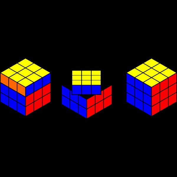 Rubik Cube Solving PNG Clip art