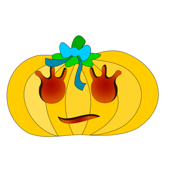 Girly Decorated Pumpkin PNG Clip art