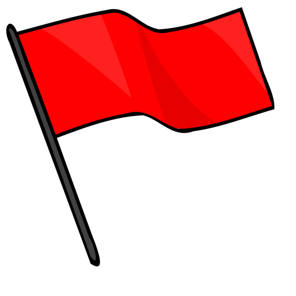 Red Flag PNG Clip art