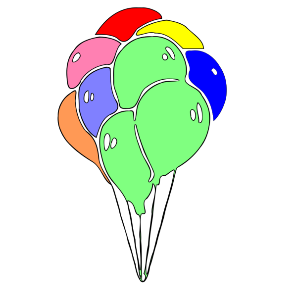 Baloons Colored PNG Clip art