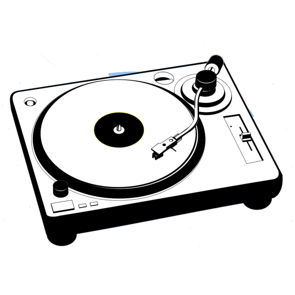 Turntable Music Player PNG Clip art