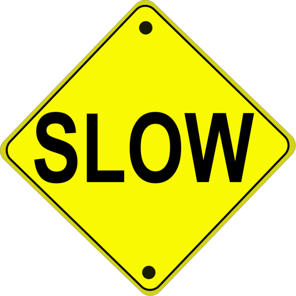 Slow Road Sign PNG Clip art