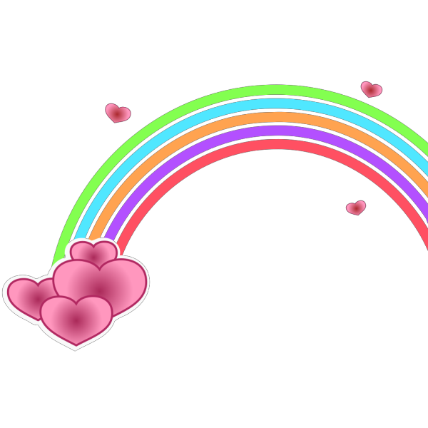 Valentine Rainbow PNG Clip art