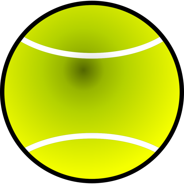 Simple Tennis Ball PNG Clip art