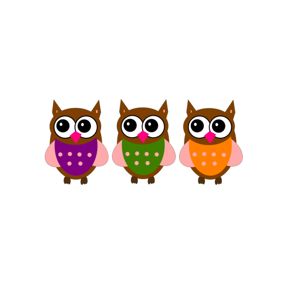 Pink Owl On A Branch PNG Clip art
