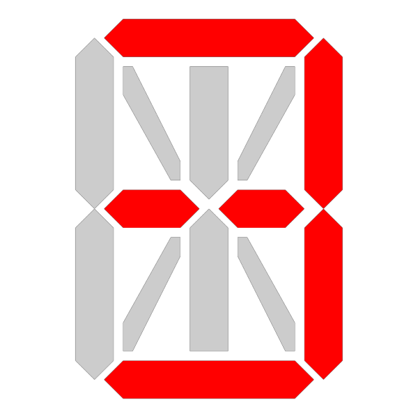 Segment Display PNG Clip art