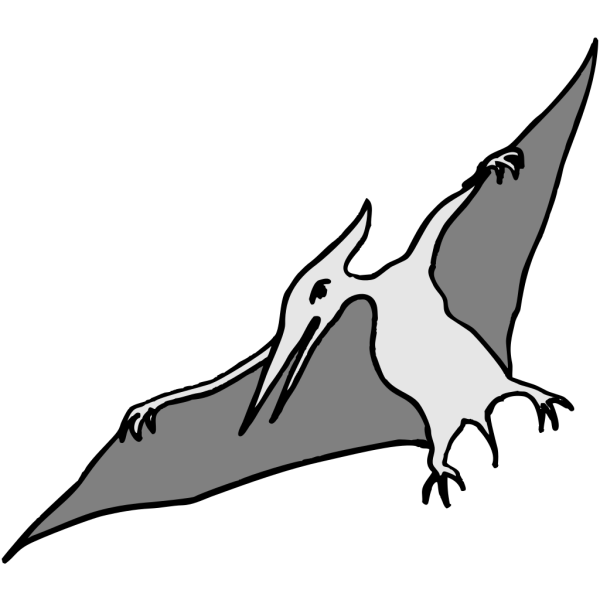 Simple Pterodactyl Art PNG Clip art
