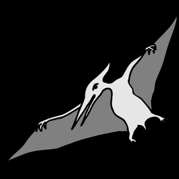 Simple Pterodactyl Art PNG Clip art
