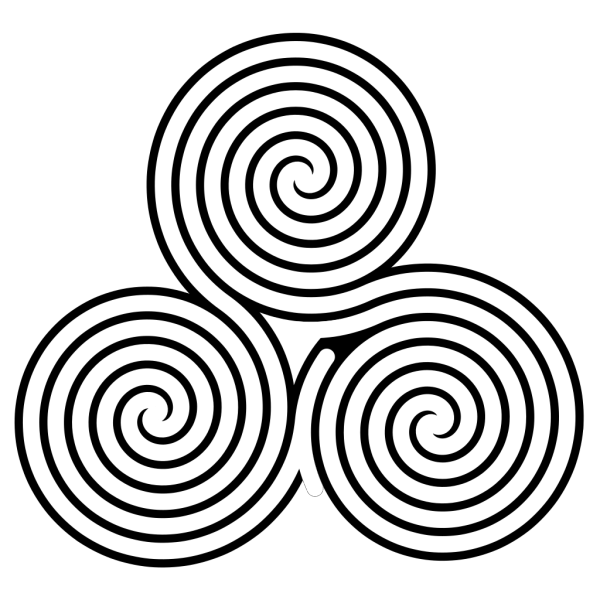 Triple Spiral Labyrinth PNG Clip art