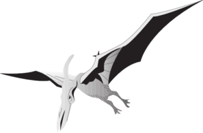 Silver Pterodactyl PNG images