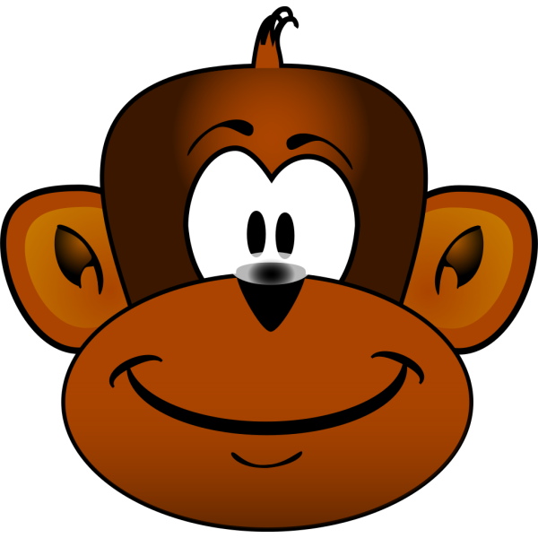 Gmad Monkey Head PNG Clip art
