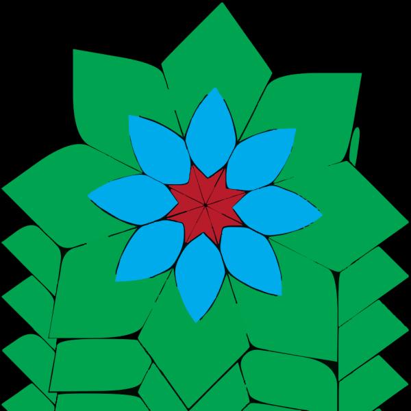 Kaleidoscope Flower PNG Clip art