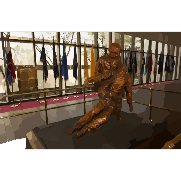 The Bronze Statue, Depicting The Bond Between Navy Hospital Corpsmen And U.s. Marines, Stands In The Main Lobby At The National Naval Medical Center In Bethesda, Maryland. PNG Clip art