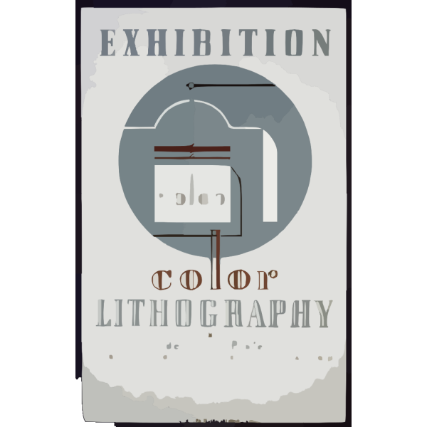 Exhibition Color Lithography By Federal Art Project Work Projects Administration PNG Clip art
