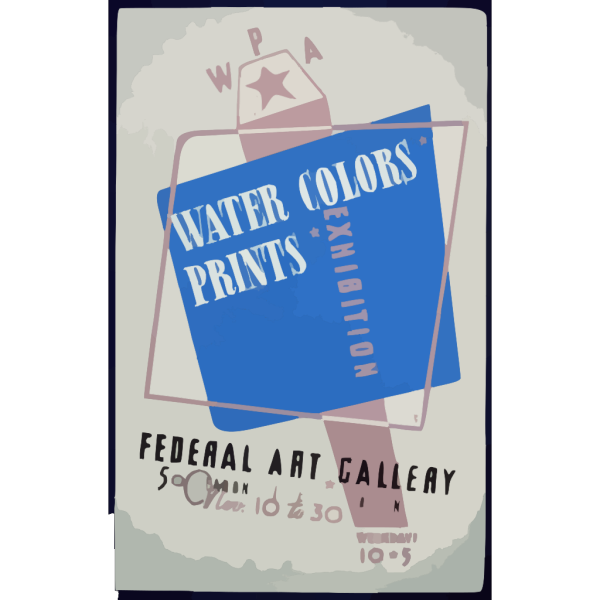 Wpa Water Colors, Prints Exhibition, Federal Art Gallery  / Hg [monogram]. PNG Clip art