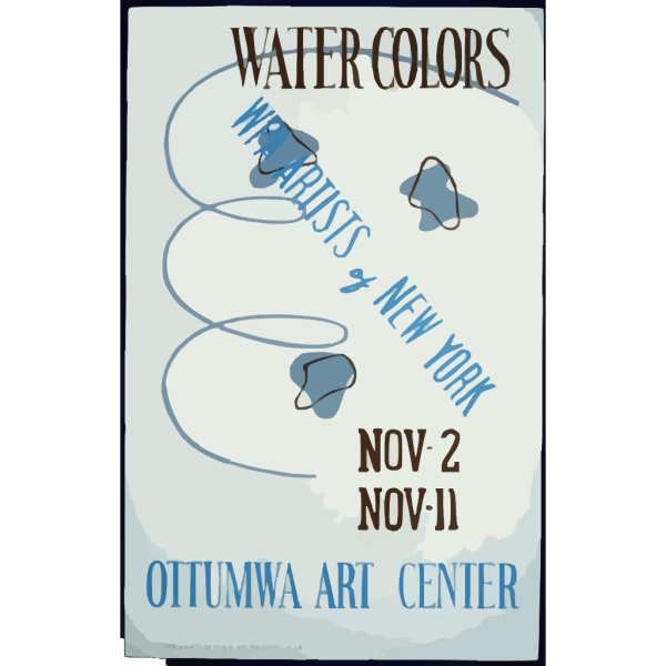 Water Colors, Wpa Artists Of New York, Ottumwa Art Center  / Designed & Made By Iowa Art Program, W.p.a. PNG Clip art