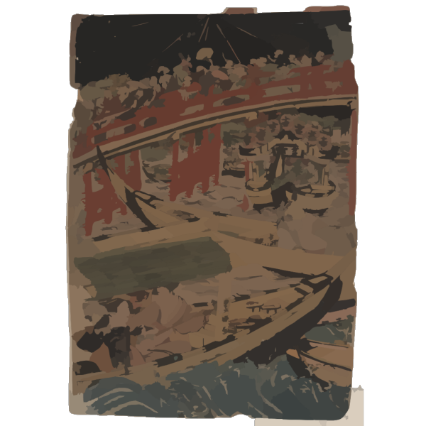 Boating On The Sumida River. PNG Clip art