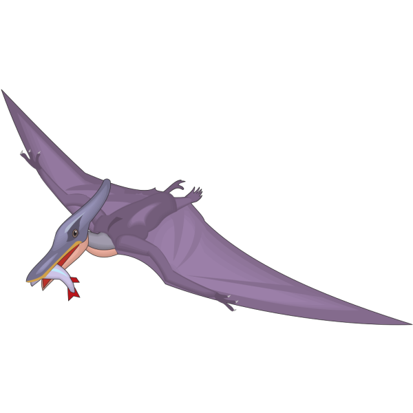 Pteranodon With A Fish In Mouth PNG images