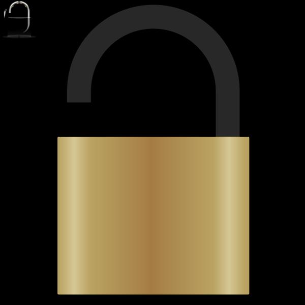 Open Padlock PNG Clip art