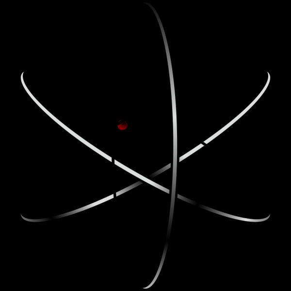 Stylized Atom PNG Clip art
