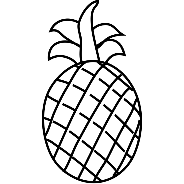 Pineapple Outline PNG images