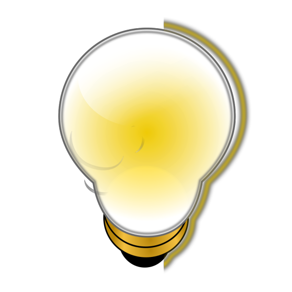 Glowing Light Bulb PNG Clip art