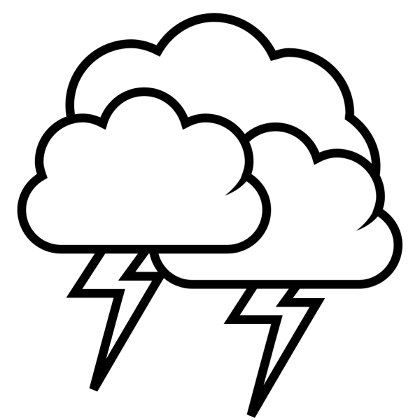 Tango Weather Storm - Outline PNG Clip art