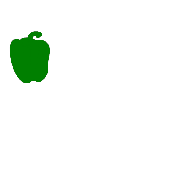 Green Pepper Outline PNG icon