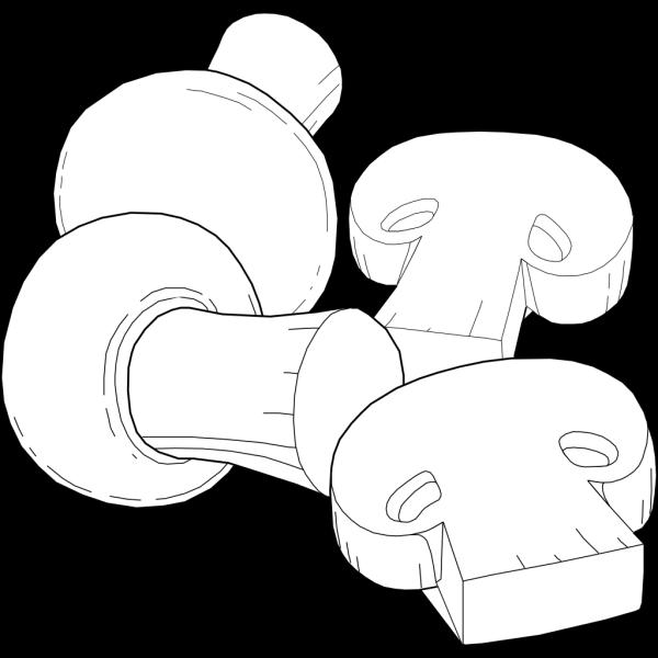 Mushrooms Outline PNG Clip art