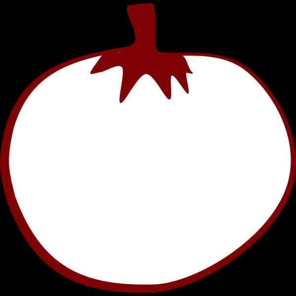 Tomato Line Art PNG Clip art