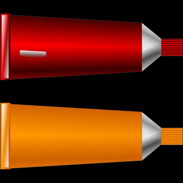 Color Tube Red Orange PNG Clip art
